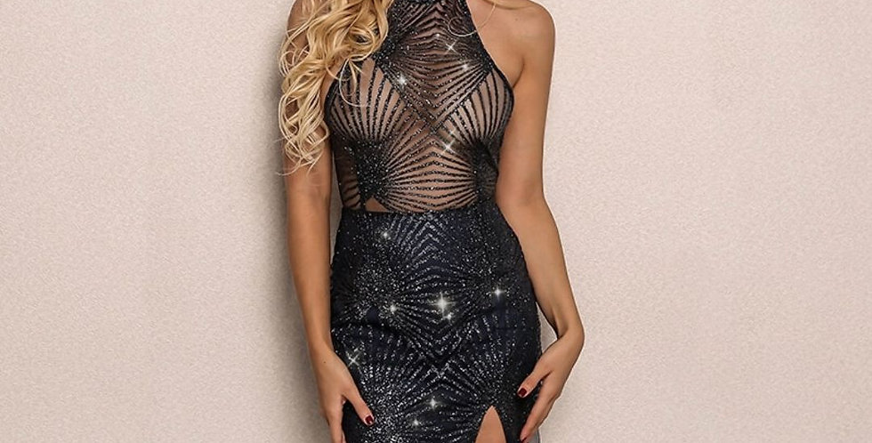 Fashion Backless Sequins Party Dress