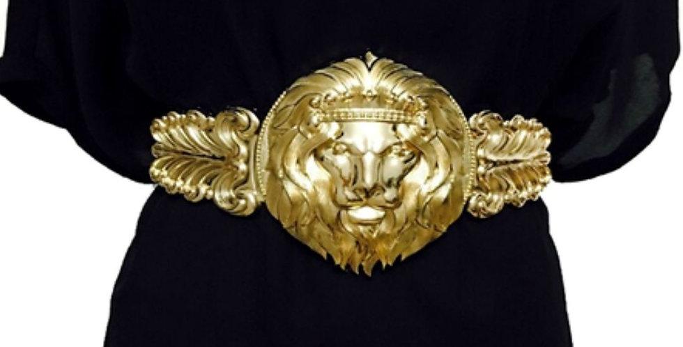 Luxury Brand Designer Golden Waist Elastic Belt