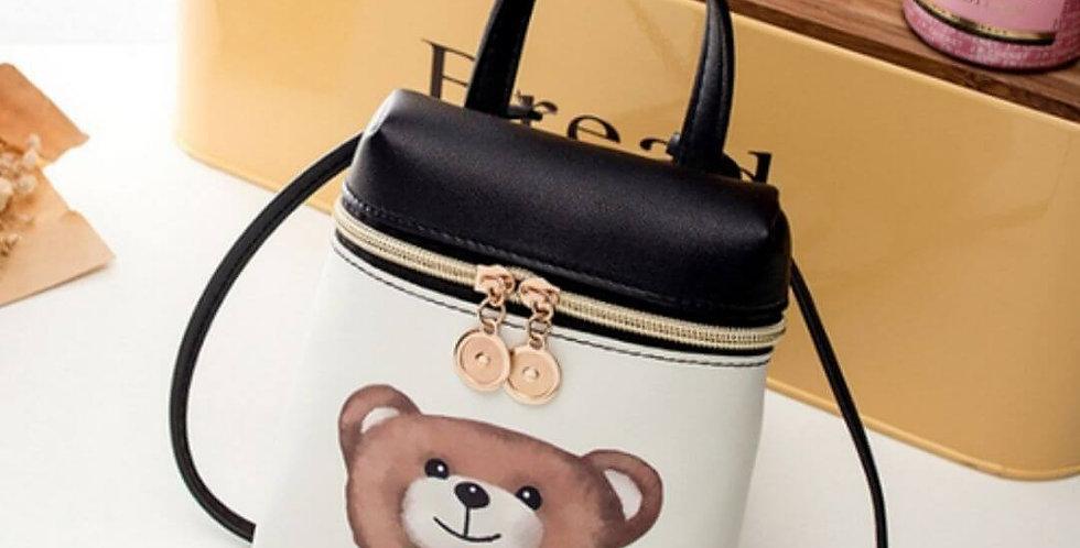 Fashion PU Leather Mini Bear Handbag