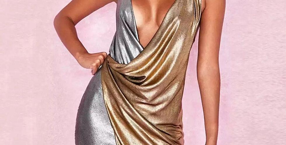 Sexy Backless Wrap Elegant Dress