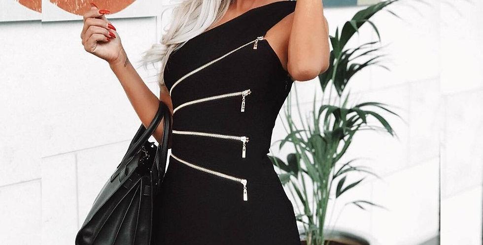 Sexy Low Cut One-Shoulder Dress