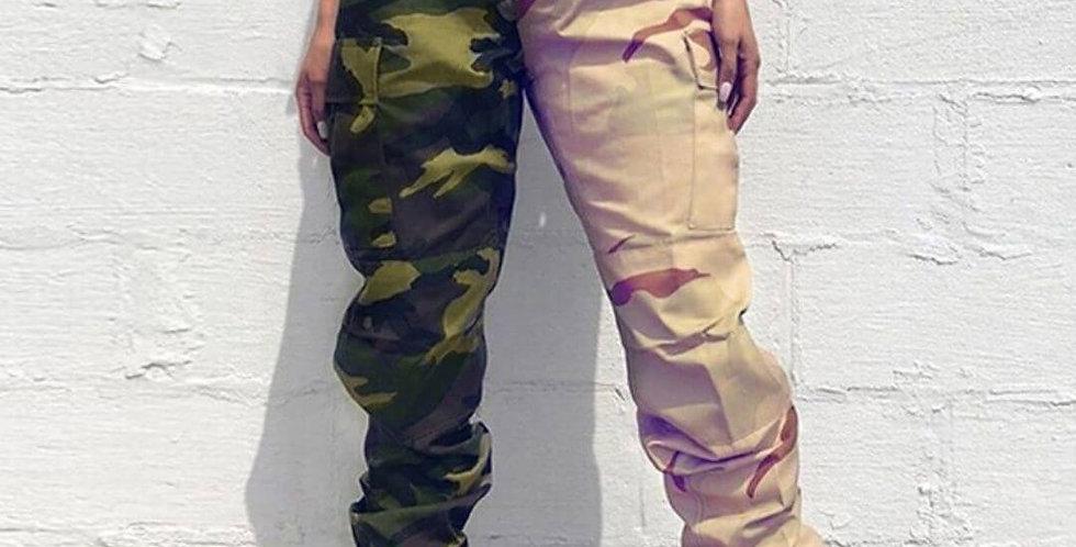 Fashion Camouflage Patchwork Army Jogger Pant
