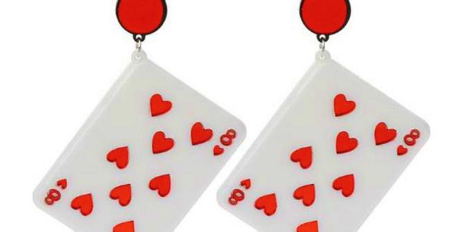 Playing Card Acrylic Drop Earrings