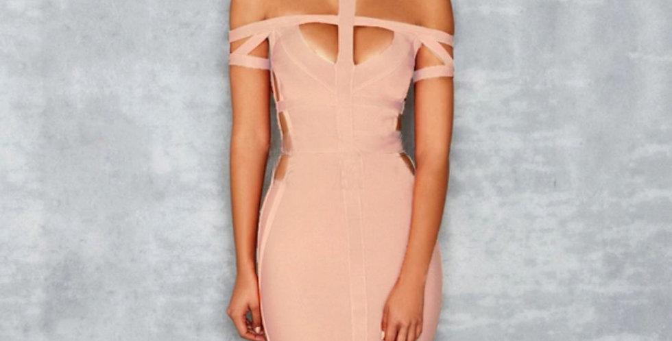 Spaghetti Symmetric Bandage Dress