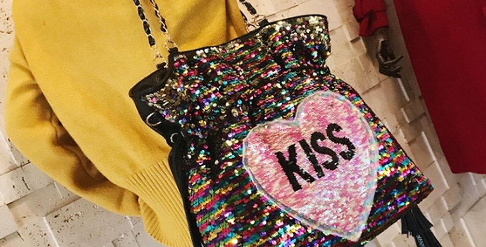 Sequin Bling Kiss Trendy Bag