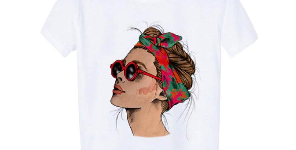 Vogue Print Lady Casual T-shirt