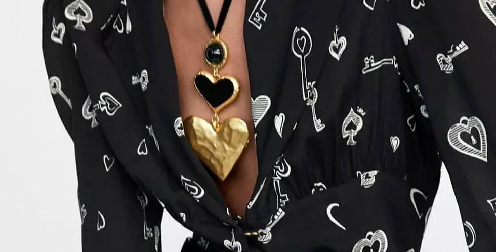 Vintage Statement Heart Necklace