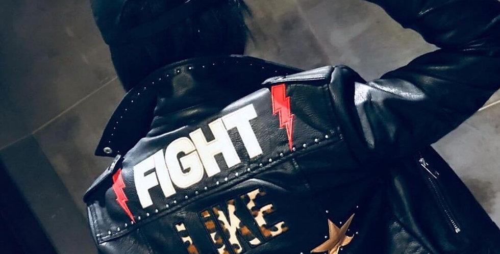 Fight Like a Girl Rivet Beading Jacket