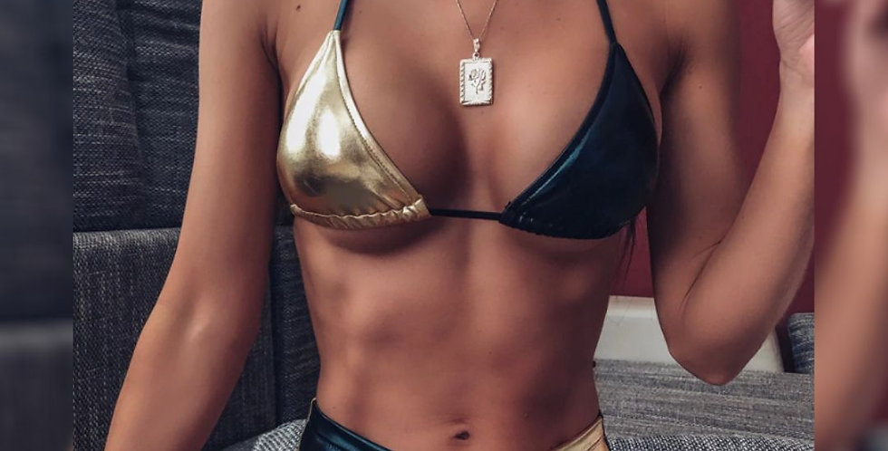 Halter Sexy High Waist Bikini Swimsuit