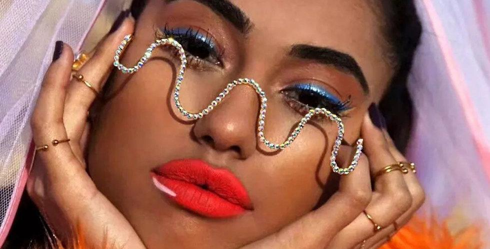 Diamond Steampunk Rhinestone Frame Sunglasses