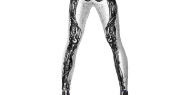 Leg Bones Fashion 3D Printed Legging