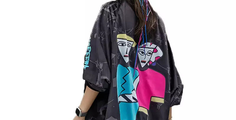 Fashion Print Oversize Jacket