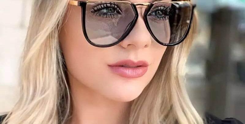 Irregular Alloy Square Brand Sunglasses