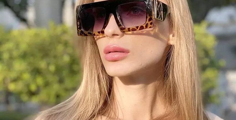 Personalized Leopard Elegant Sunglasses