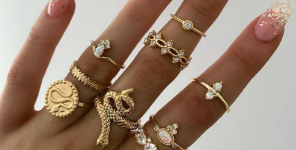 Luxury Shiny Virgin Mary Gold Rings