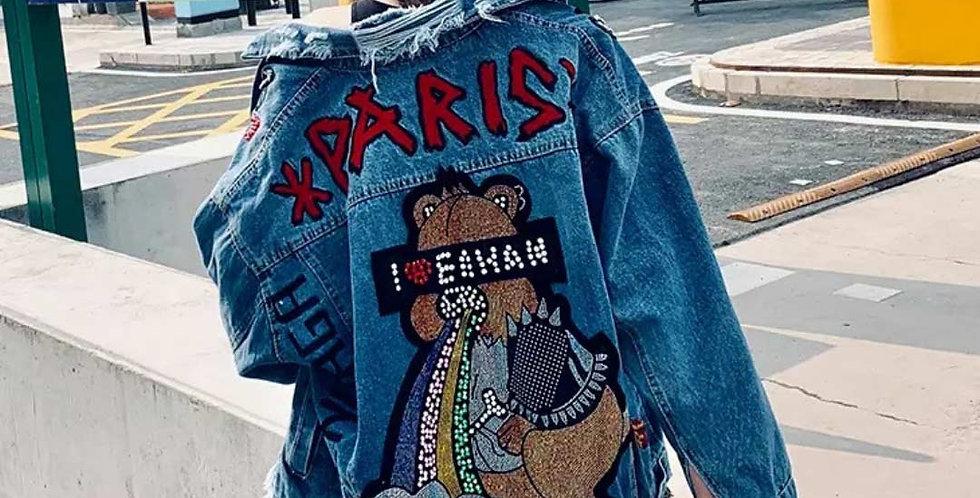 Paris Sequins Stylish Jeans Jacket