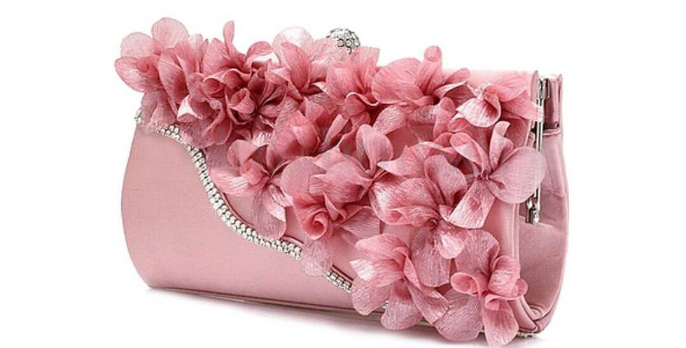Lady Satin Flower Wedding Purse