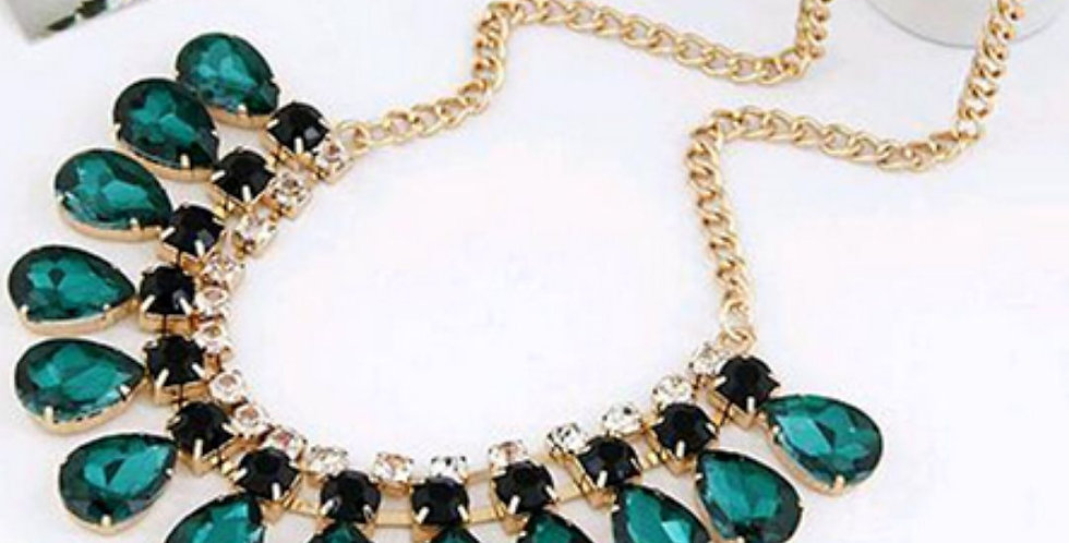 Jewelry Green Crystal Necklace