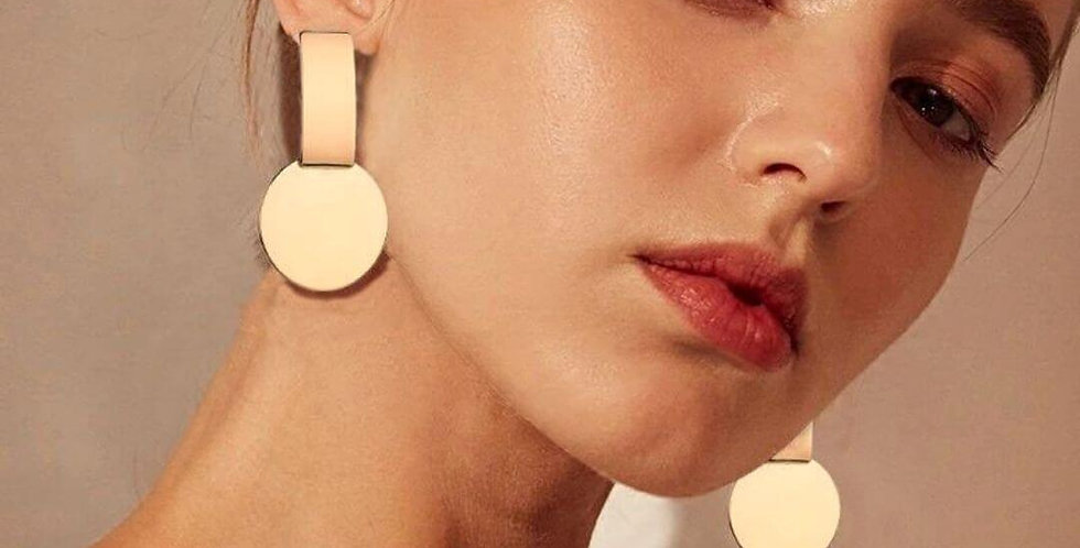 Drop Dangle Gold Earrings