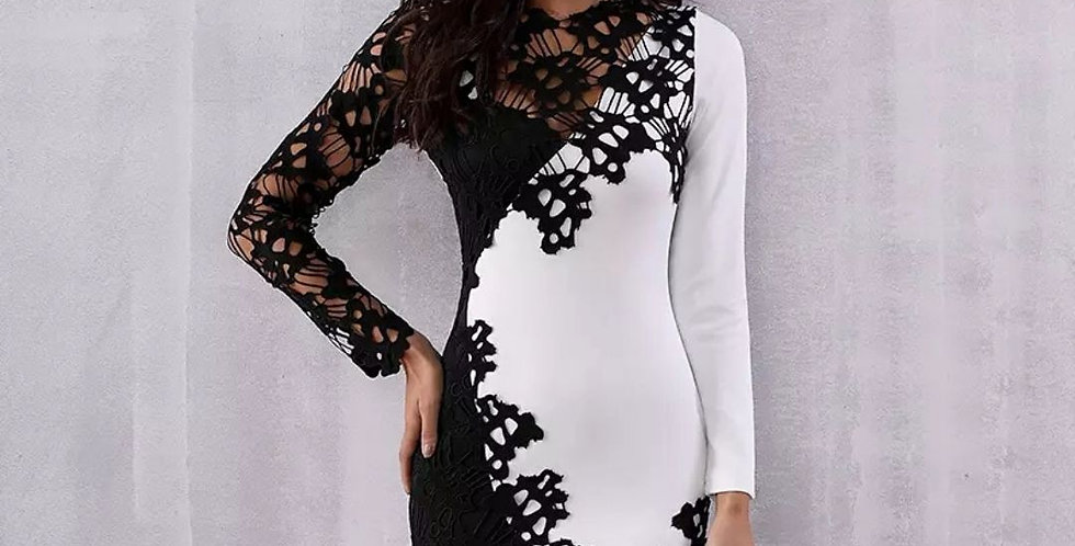 New Runway Floral Lace Celebrity Dress