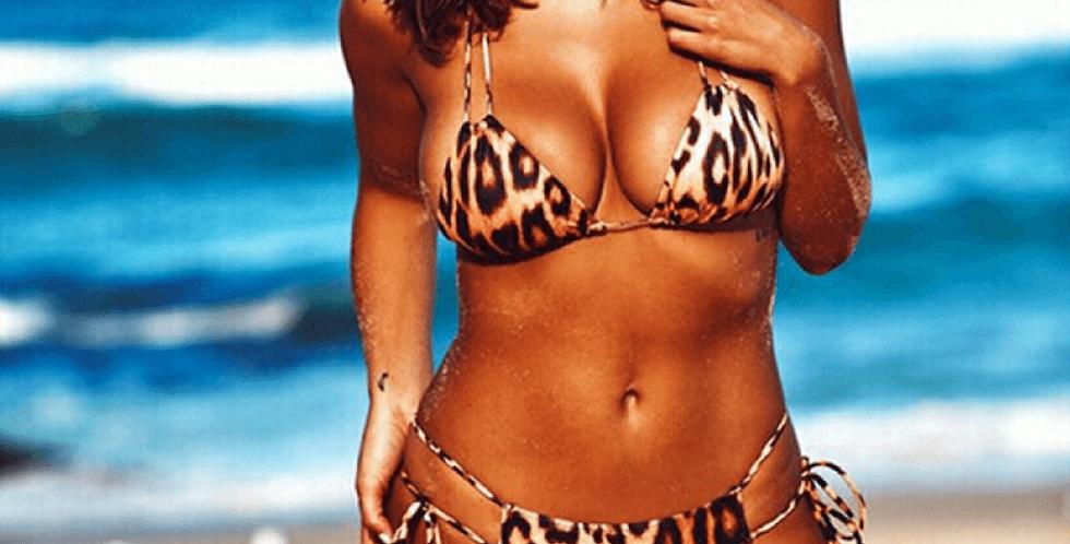 Leopard Print Women Swim Suit