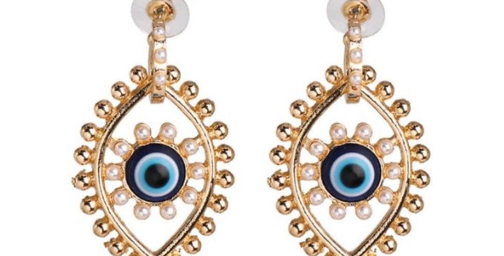 Evil Eye Vintage Statement Drop Earrings