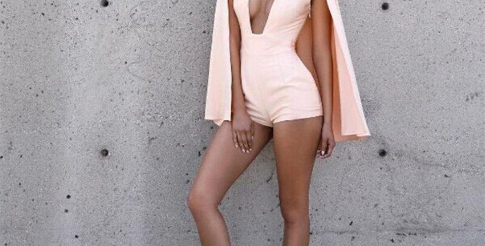 Newest Design Fashion Pink Jumpsuit