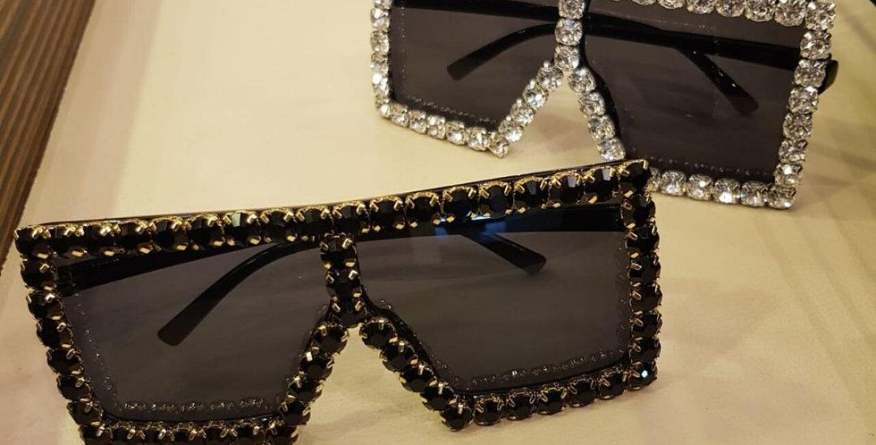 Crystal Diamond Over-sized Luxury Sunglasses