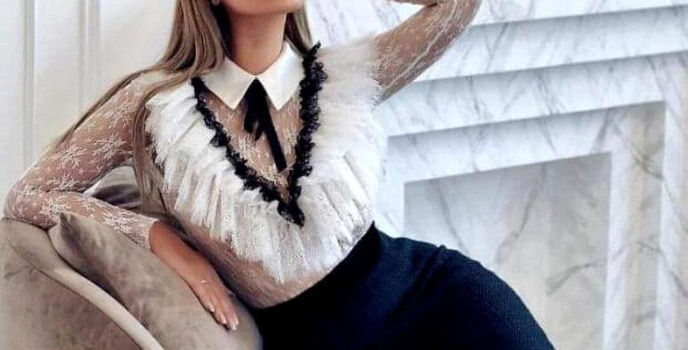 Elegant White Long Sleeve Shirt