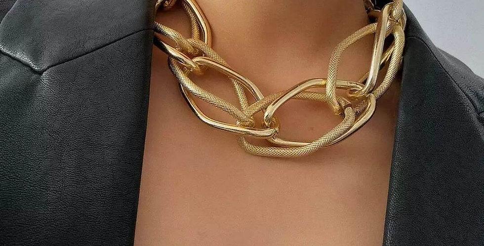 Multi Layered Golden Chain Choker