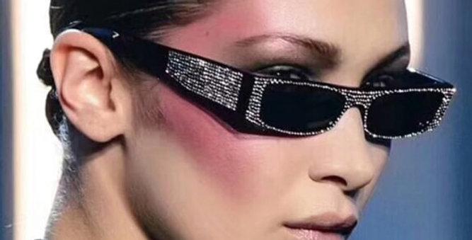 Diamond Square Brand Crystal Sunglasses