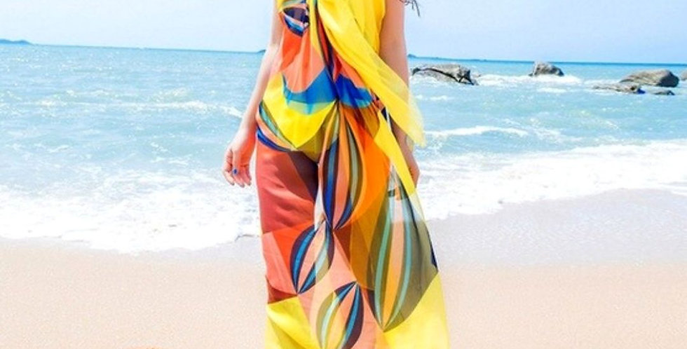 Beach Geometrical Design Cover Up