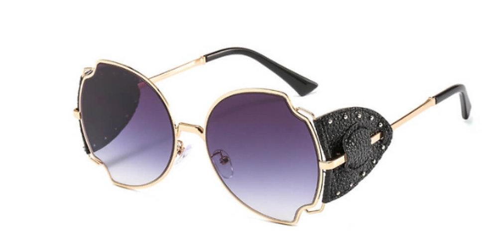 Butterfly Shape Luxury Brand Punk Sunglasses