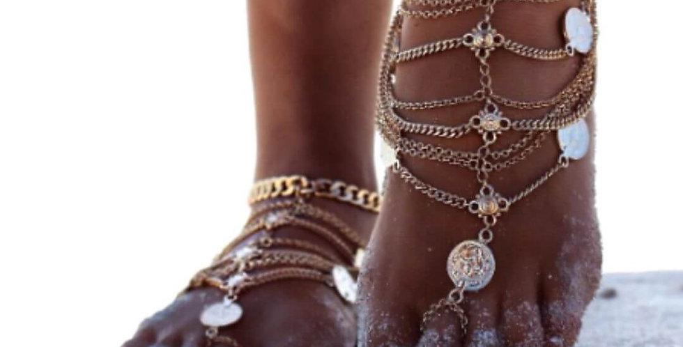 Tassel Chain Ankle Bracelet