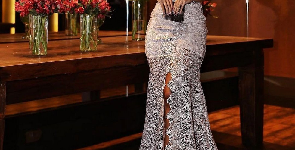 Long Lace Evening Party Dress