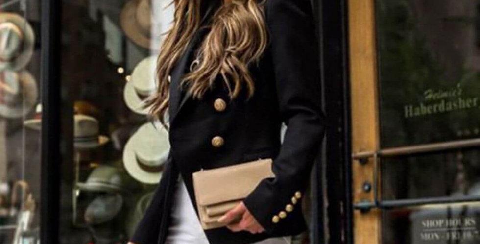 Single Breasted Elegant Black Blazer