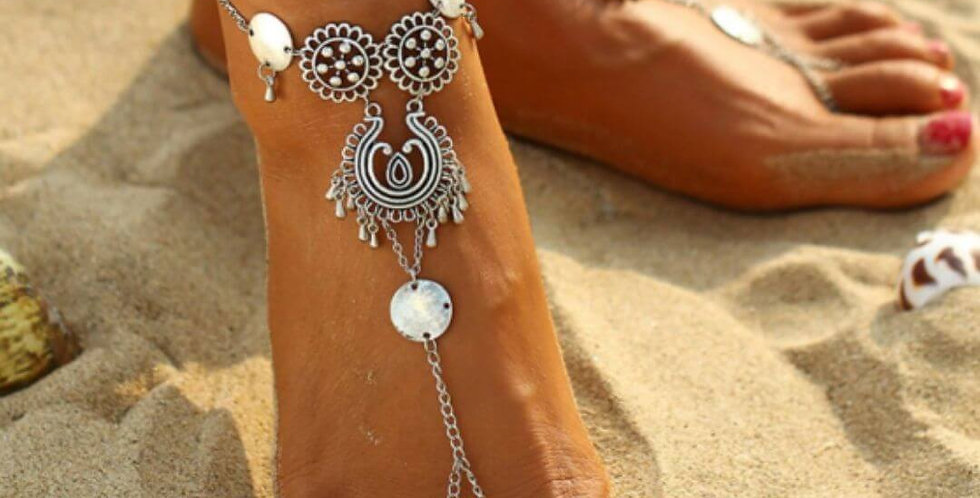 Bohemian Flower Beach Foot Jewelry