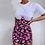 Thumbnail: Patchwork Floral Print Body-con Dress