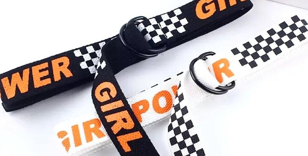 Girl Power Ring Square Fashion Belt