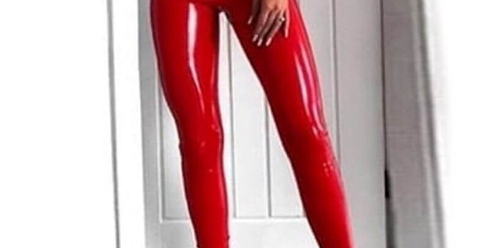 PU Leather High Waist Skinny Legging