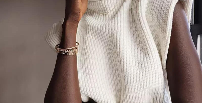 Turtleneck Cotton Knitted Sweater