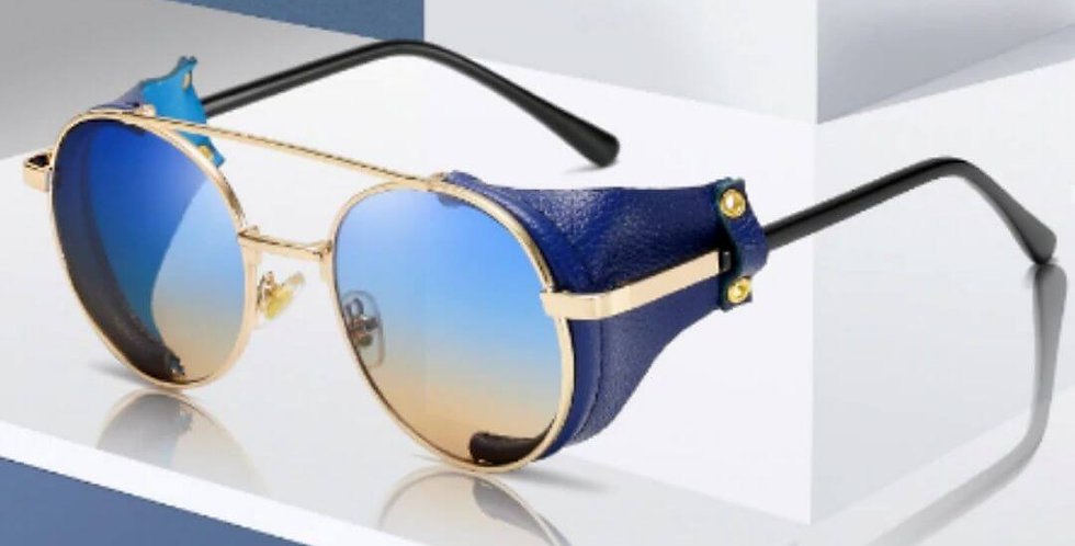 Steampunk Brand Designer Round Sunglasses