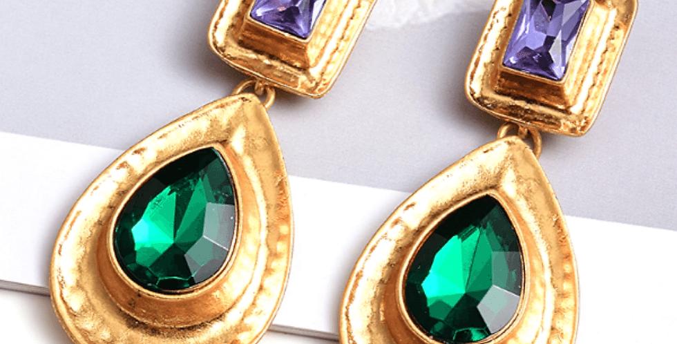 New Style Rhinestone Metal Dangle Drop Earrings