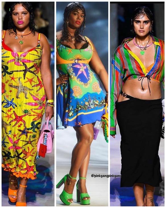 Versace Plus Size Models rocked the runway