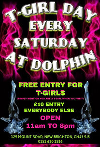 T-Girl Day every Saturday at Dolphin Sauna, New Brighton