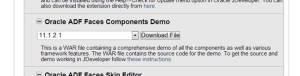 Installing ADF Faces Components Demo