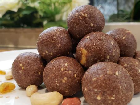 Ragi Peanut Sesame Laddu Recipe | Ragi Laddu