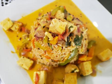 Thai Fried Rice | Tofu Curry | Air Fryer Tofu | Peanut Sauce Recipe