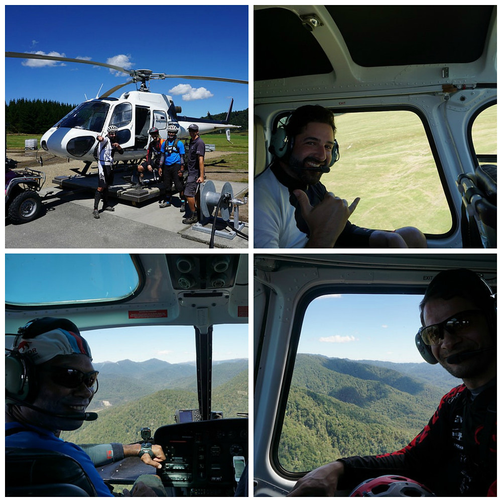 Guests on our New Zealand Heli biking adventures