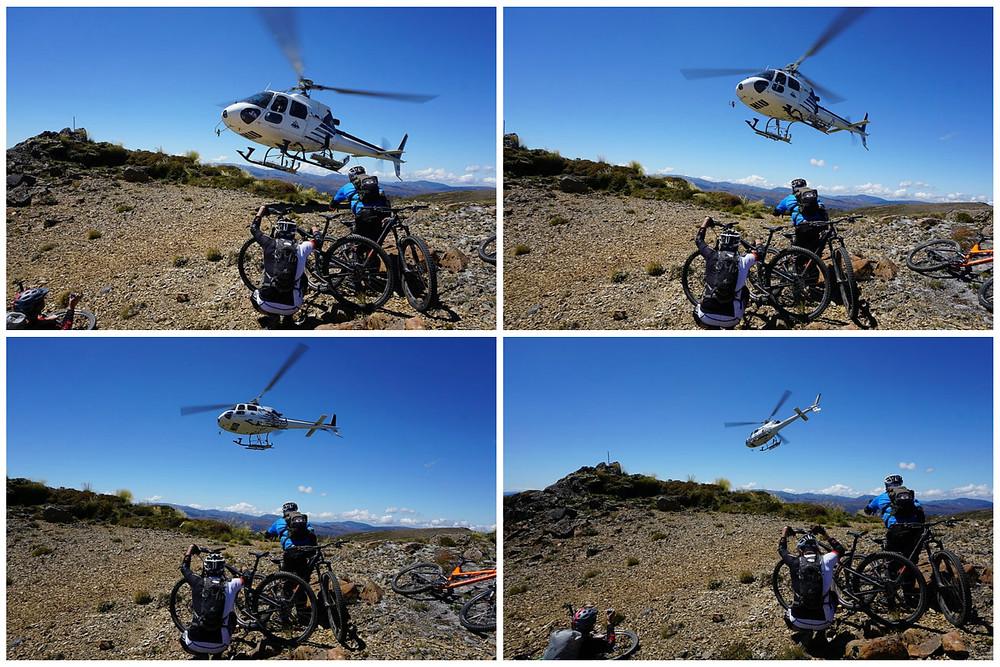 New Zealand heli biking experience take off